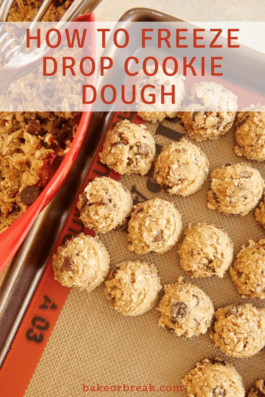 How to Freeze Drop Cookie Dough bakeorbreak.com