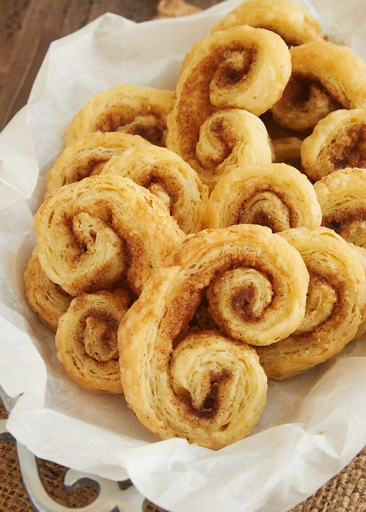 Chai Spice Palmiers are made with a simplified puff pastry and a delicious blend of spices. They are part pastry, part cookie, and completely fantastic! - Bake or Break
