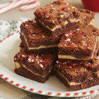 Rich, fudgy Peppermint Cheesecake Brownies are a delicious combination of chocolate, cream cheese, and peppermint. - Bake or Break