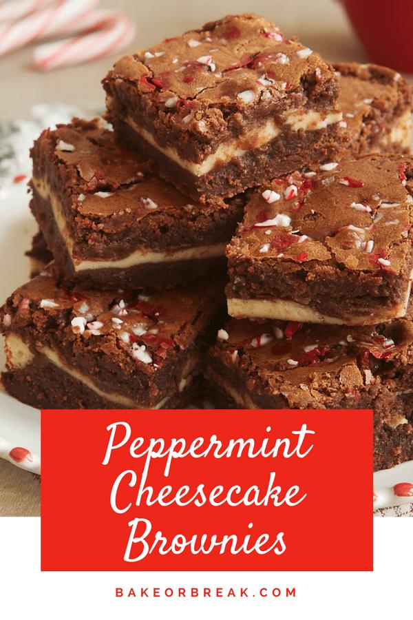 Peppermint Cheesecake Brownies bakeorbreak.com