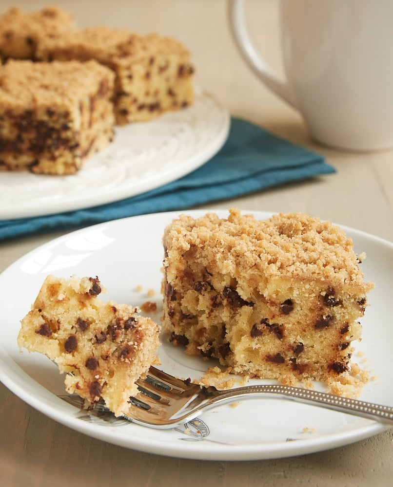slice of Chocolate Chip Crumb Cake