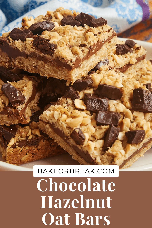 Chocolate Hazelnut Oat Bars bakeorbreak.com