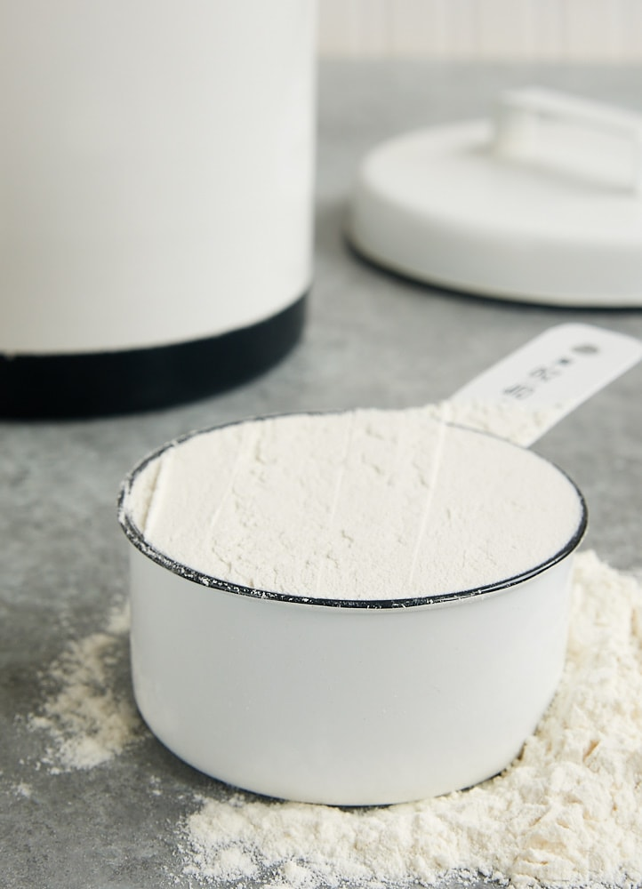 1 cup of flour measured with the spoon and sweep method