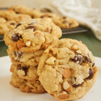 These sweet, nutty Butterscotch Peanut Chocolate Chip Cookies are such a crowd-pleaser. The combination of flavors is just perfect! - Bake or Break