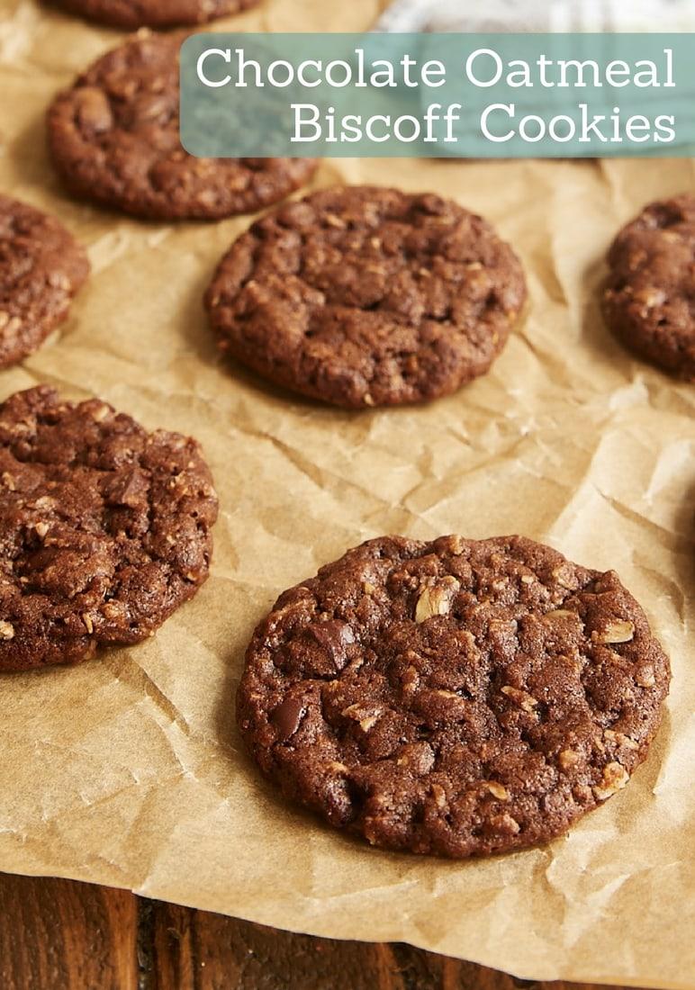 Chocolate Oatmeal Biscoff Cookies bakeorbreak.com