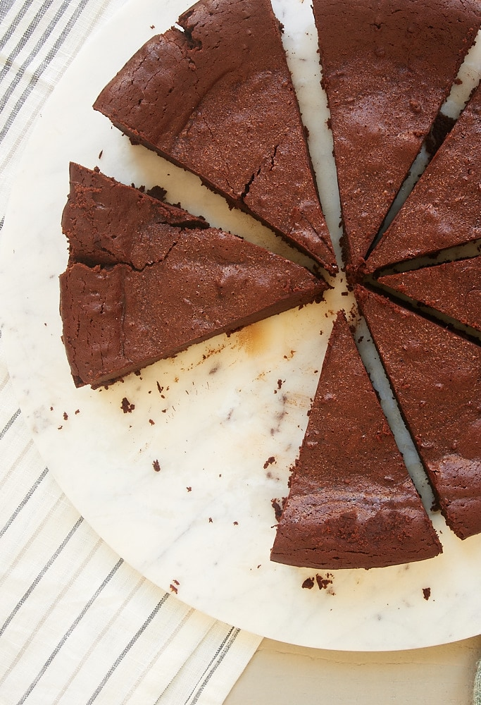This Easy Chocolate Torte recipe is the perfect addition to the recipe boxes of all chocolate lovers. It is full of rich, fudgy, decadent, dark chocolate flavor! - Bake or Break