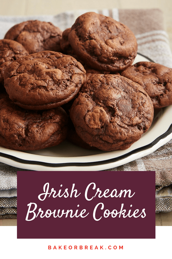 Irish Cream Brownie Cookies