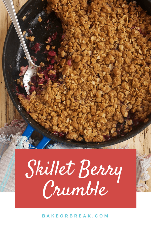 Skillet Berry Crumble bakeorbreak.com