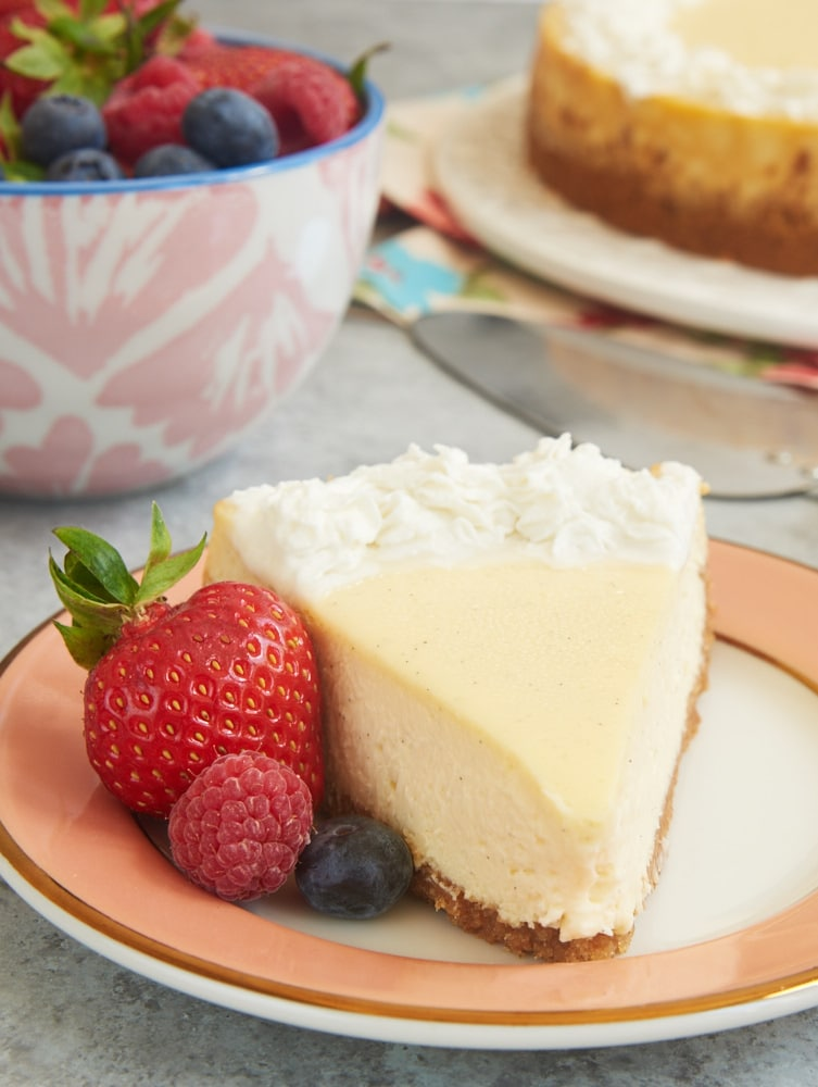 Vanilla is anything but boring in this rich, creamy, fantastic Vanilla Bean Cheesecake! - Bake or Break