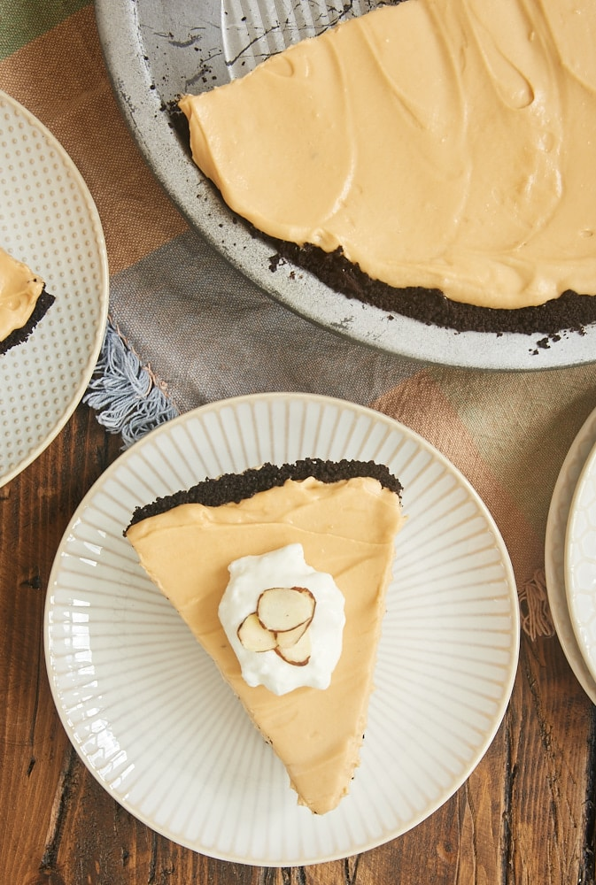 slice of Dulce de Leche Icebox Pie