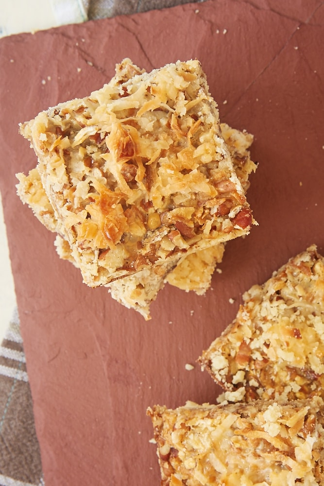 Coconut Pecan Shortbread Bars