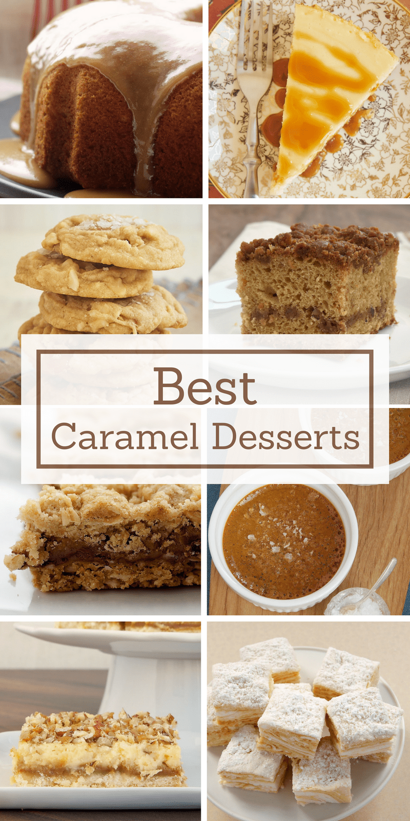 collection of Bake or Break's best caramel desserts