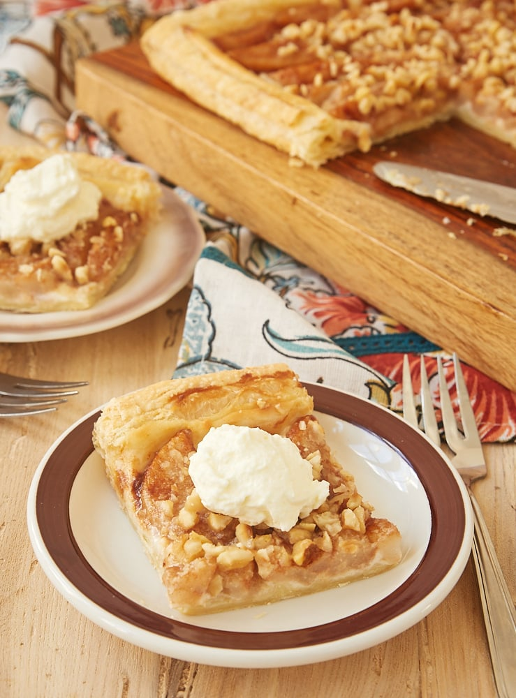 Cream Cheese-Filled Pear Tart