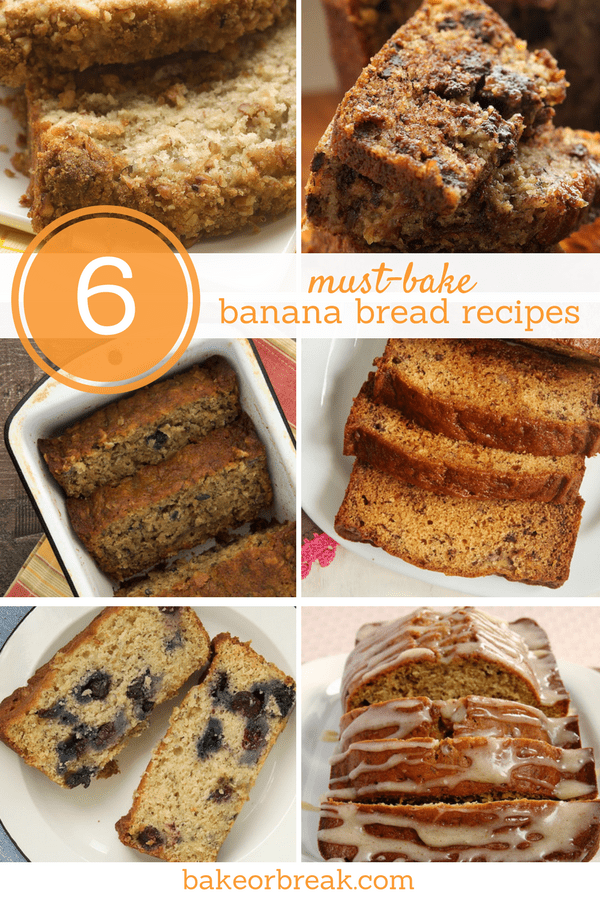 collection of banana bread recipes