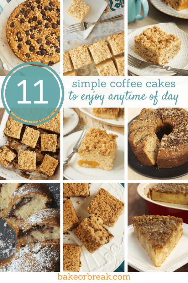 Coffee cakes are a perfect coffee companion, but why stop there? These 11 simple coffee cakes are to be enjoyed for everything from a sweet morning treat to an unfussy dessert! - Bake or Break