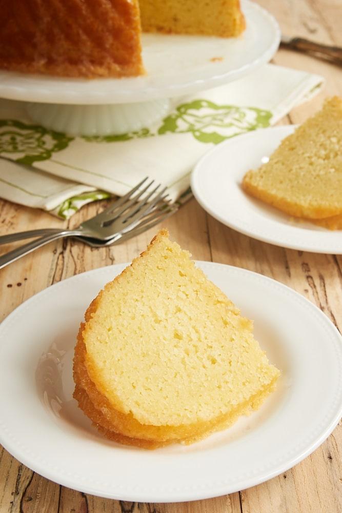 slice of Key Lime Bundt Cake