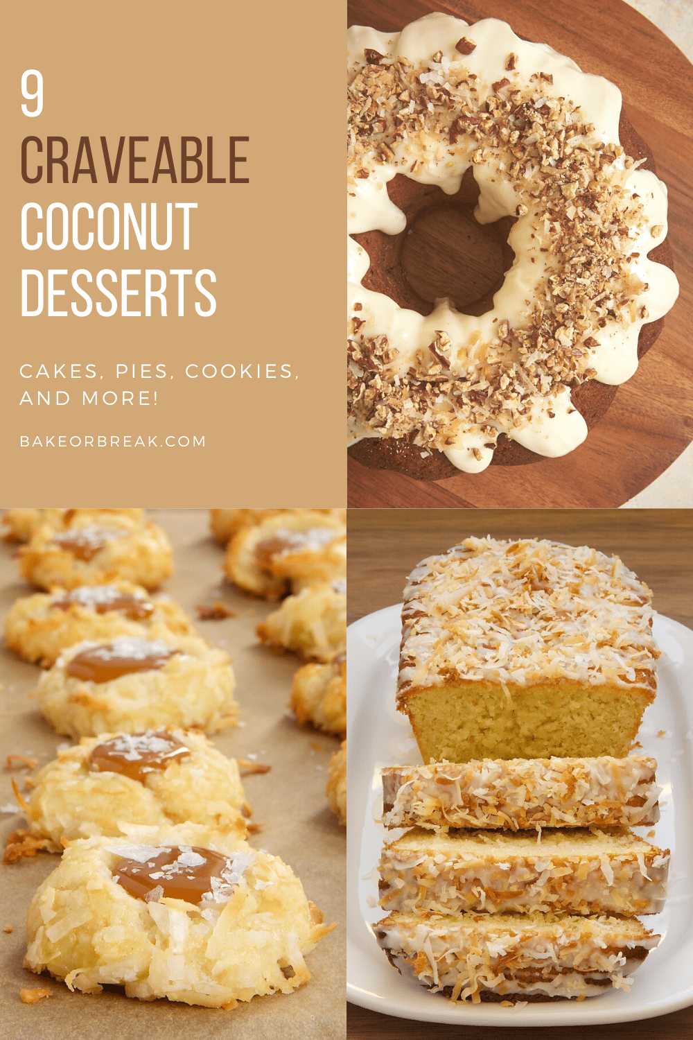 collection of coconut dessert recipes