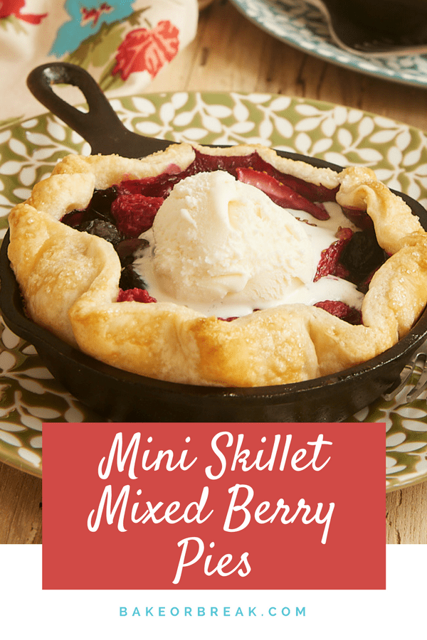 Mini Skillet Mixed Berry Pies