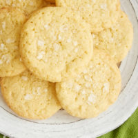 plate of Sea Salt Lime Cookies