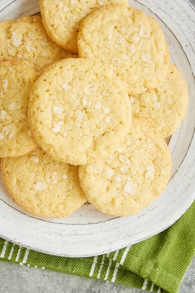 plate of Sea Salt Lime Cookies
