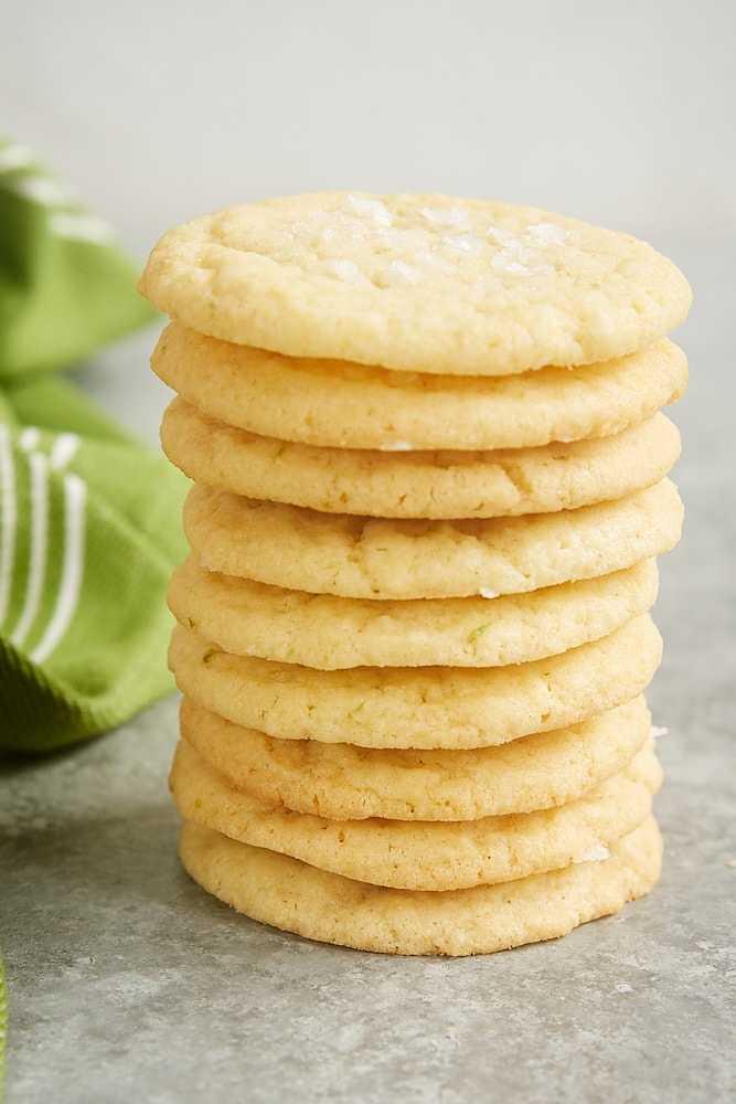 stack of Sea Salt Lime Cookies