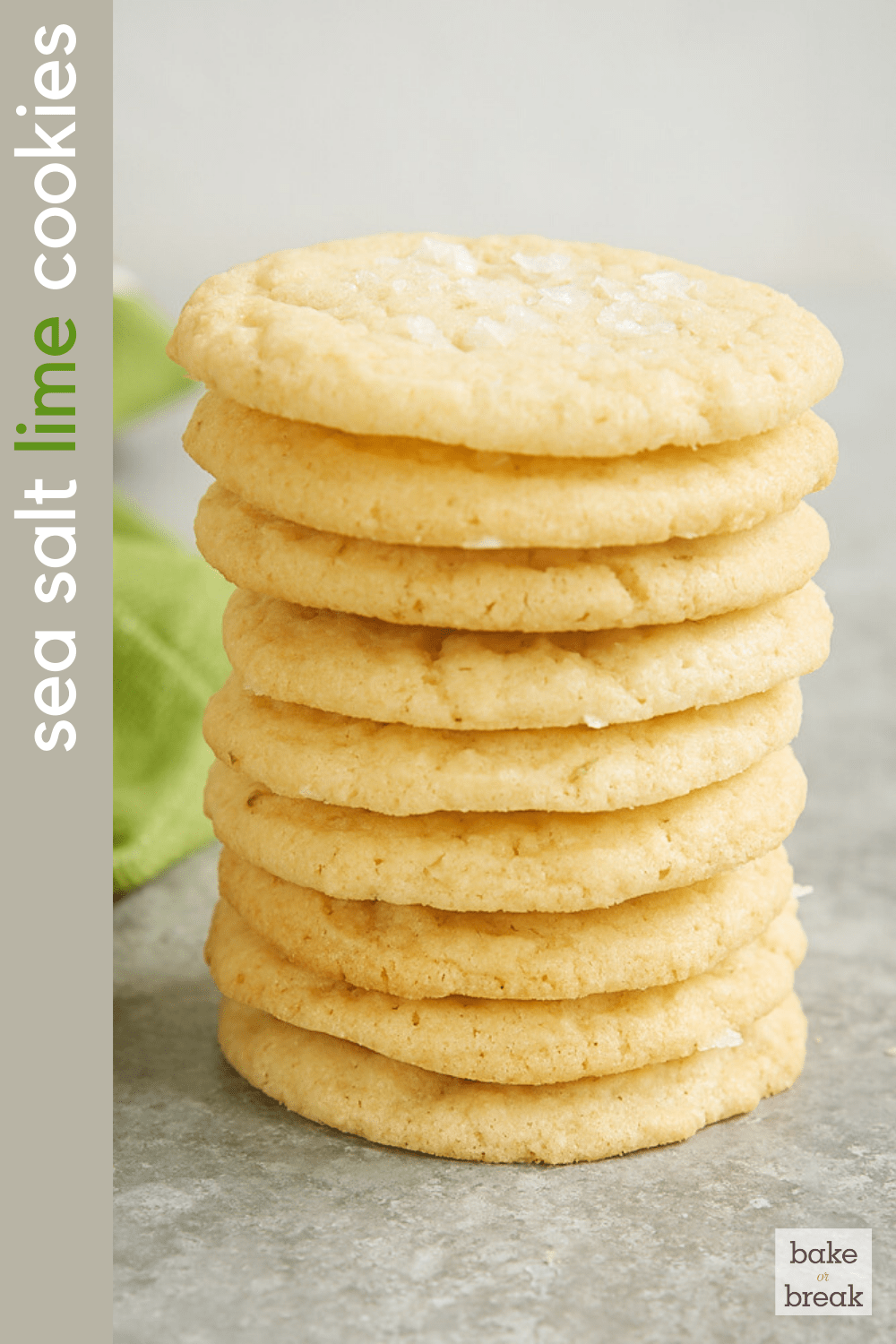 Sea Salt Lime Cookies