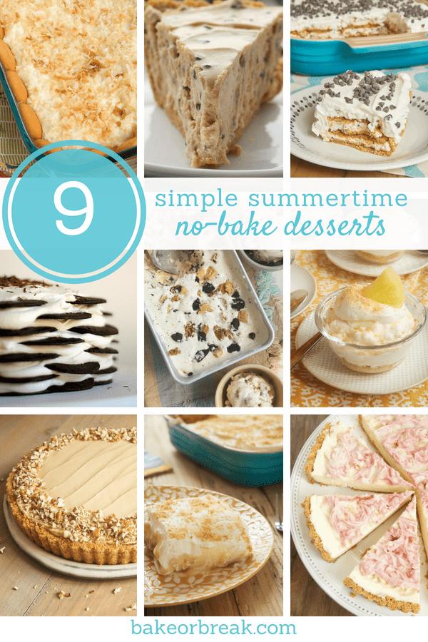 collection of no-bake dessert recipes