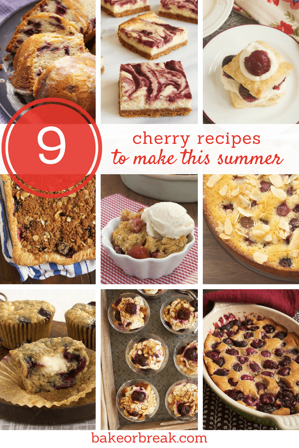 collection of fresh cherry recipes
