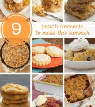 collection of peach dessert recipes