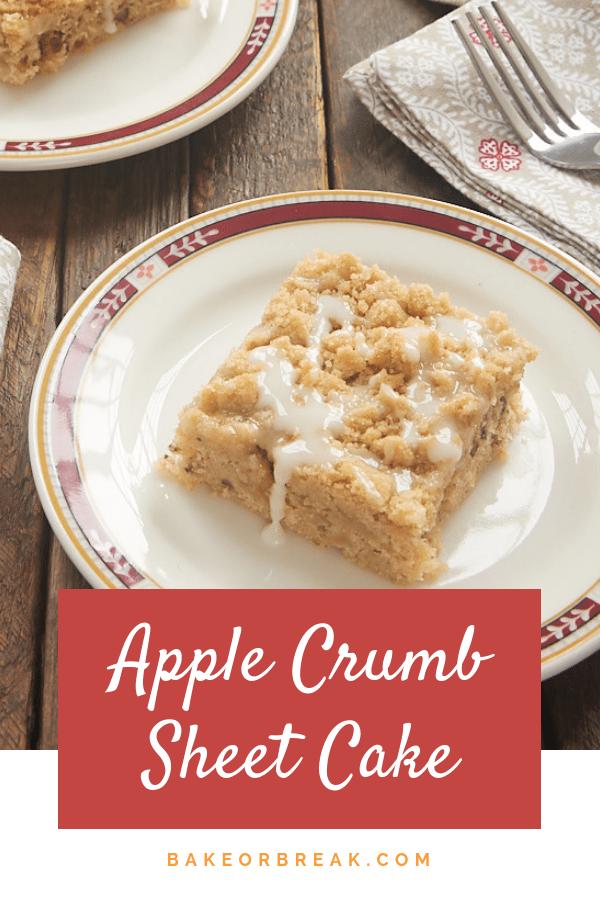 Apple Crumb Sheet Cake bakeorbreak.com