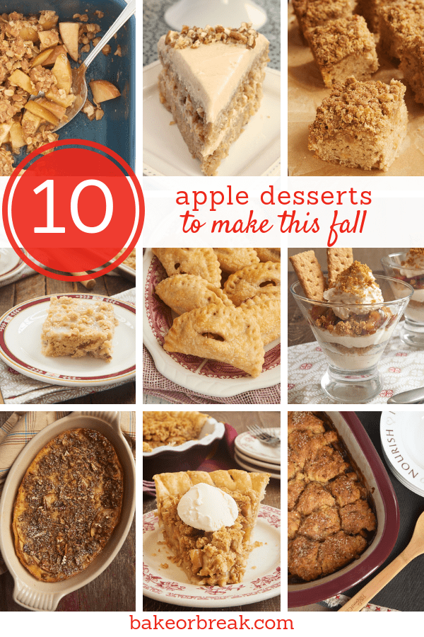 collection of apple desserts from Bake or Break