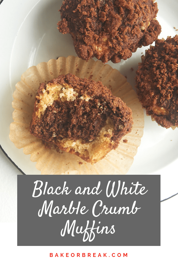 Black and White Marble Crumb Muffins