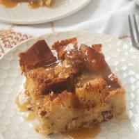 Chai Spice Bread Pudding with Vanilla Sauce
