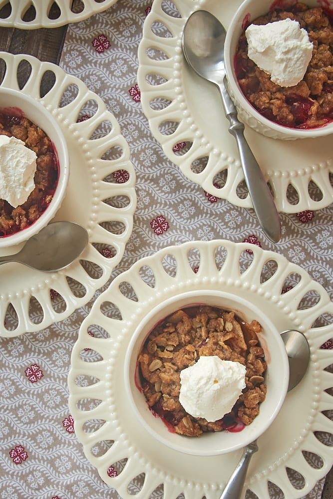 Cranberry Pear Crumbles