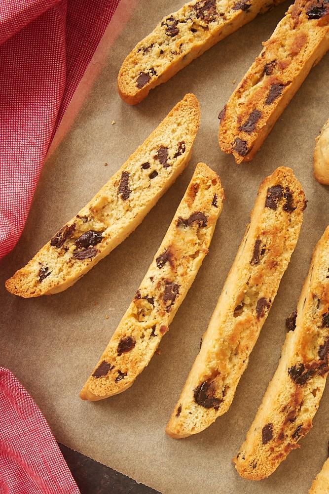 Cherry Chocolate Chip Biscotti