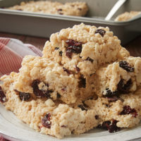 Cranberry White Chocolate Crispy Treats