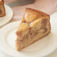 slice of Cinnamon Roll Cream Cheese Coffee Cake