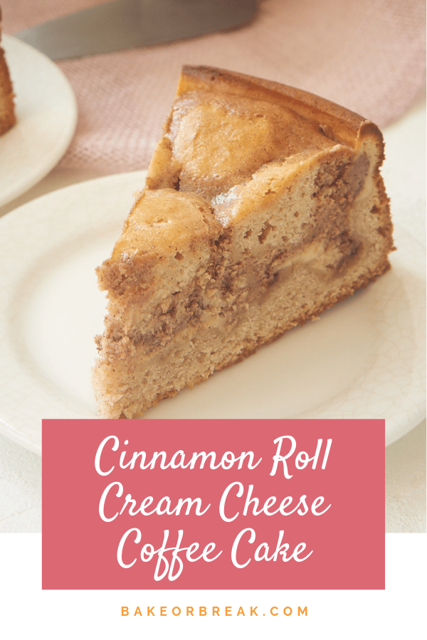 Cinnamon Roll Cream Cheese Coffee Cake bakeorbreak.com