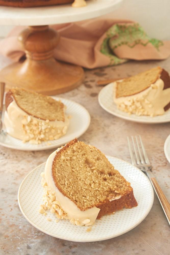 slices of Peanut Butter Bundt Cake