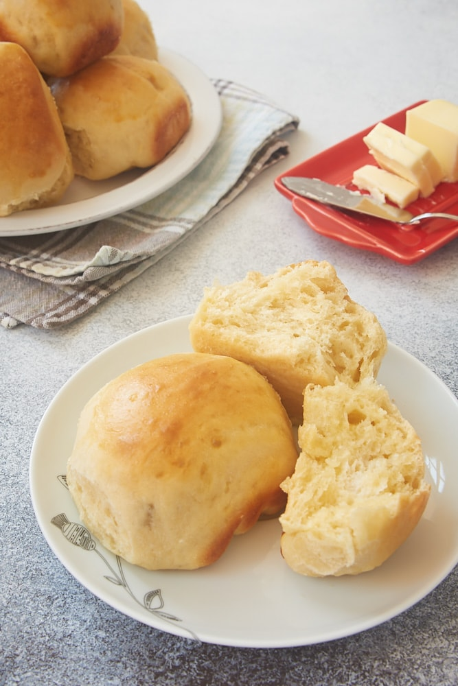 Potato Rolls served with butter