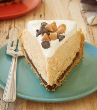 slice of Black Bottom Peanut Butter Pie