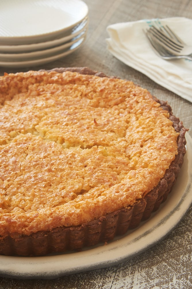 Coconut Chess Pie with Chocolate Crust