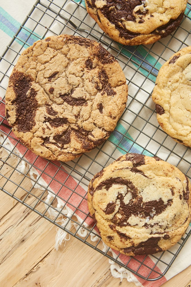Jacques Torres Chocolate Chip Cookies, homemade and from Jacques Torres shop