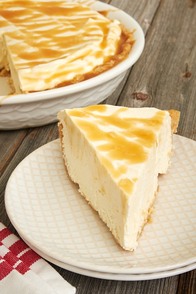 slice of Salted Caramel Whipped Cream Pie