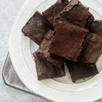 stack of Dark Cocoa Powder Brownies