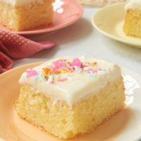 slice of Lemon Sheet Cake