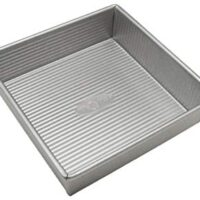 USA Pan Bakeware Square Cake Pan, 8 inch