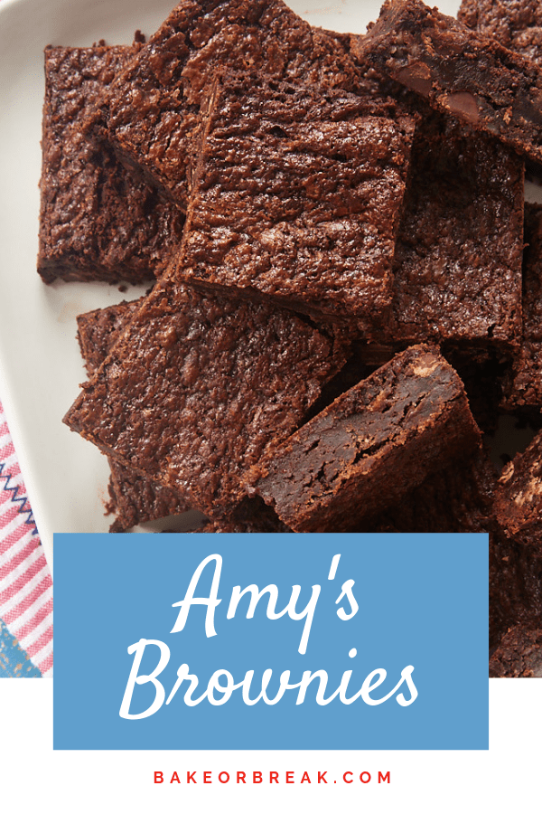 Amy's Brownies are the rich, fudgy brownies from Amy's Bread in New York. If you love chocolate in a big, big way, then these are the brownies for you! - Bake or Break #brownies #chocolate