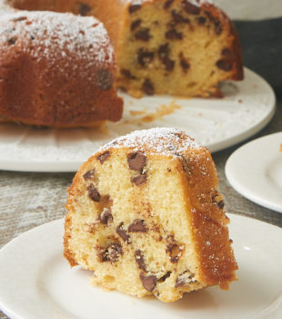 slice of Chocolate Chip Muffin Cake