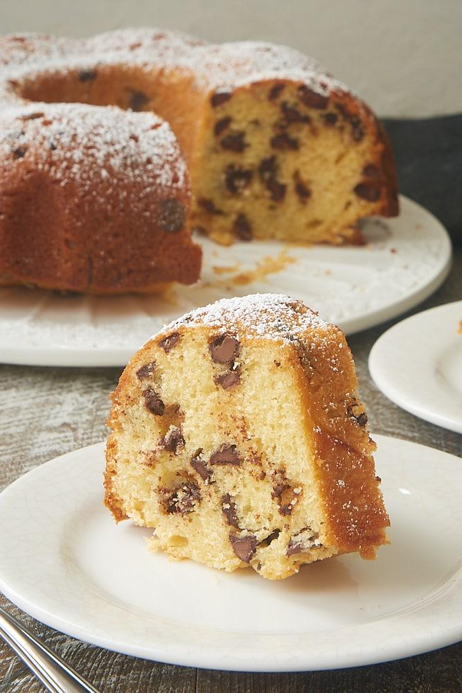 slice of Chocolate Chip Muffin Cake